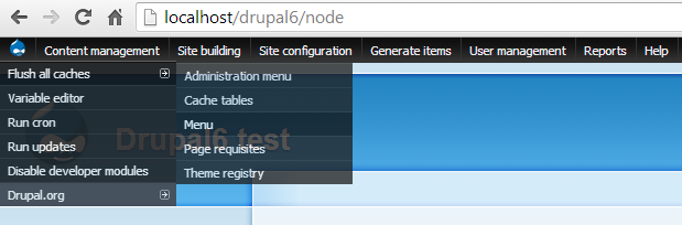 Rebuild menu using admin menu module