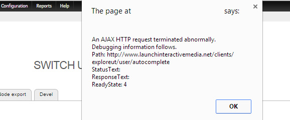 Ajax HTTP Request Error